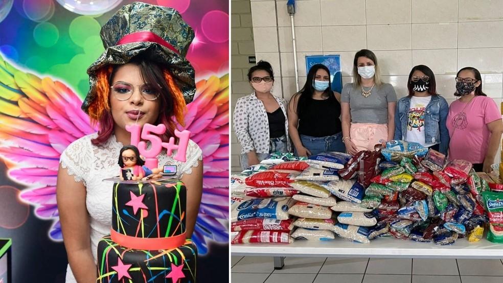 jovem troca presentes aniversário por doação de alimentos