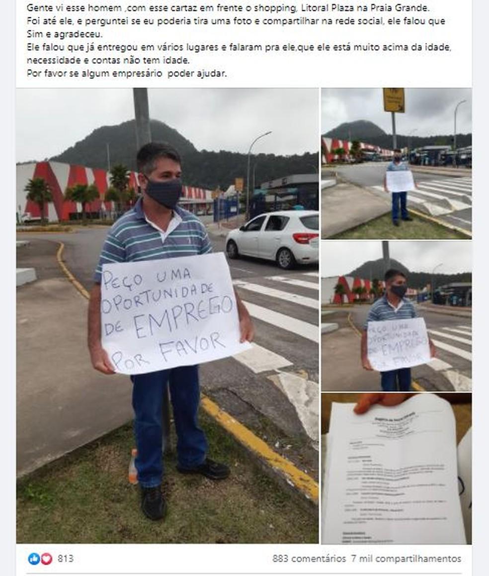 Homem recebe várias propostas emprego após ser visto no semáforo implorando trabalho