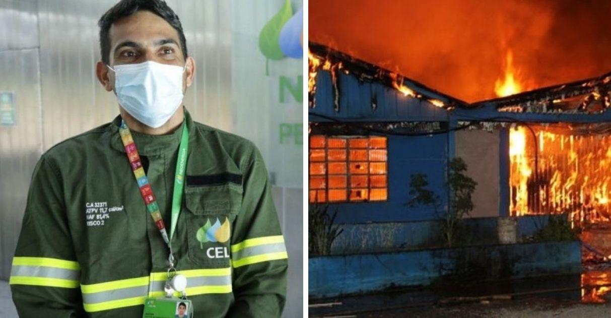 eletricista resgata idosa incêndio