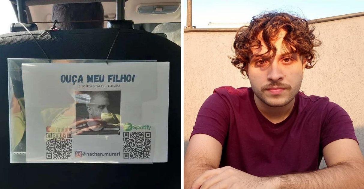 pai divulga filho carro de aplicativo e viraliza