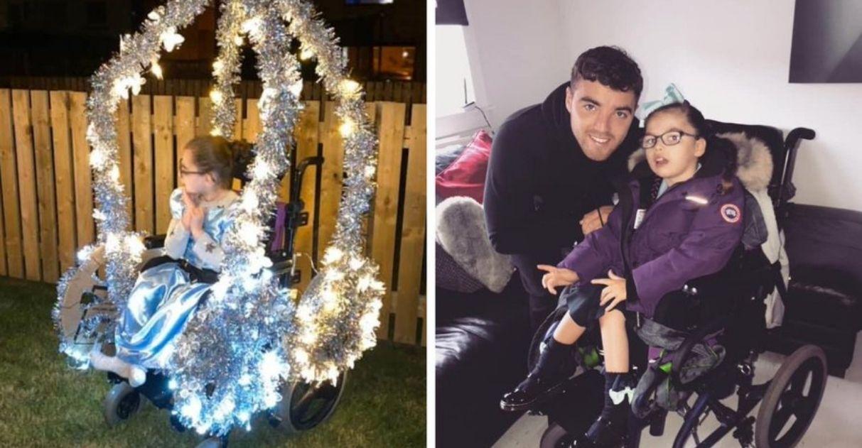 pai criativo transforma filha cadeirante princesa