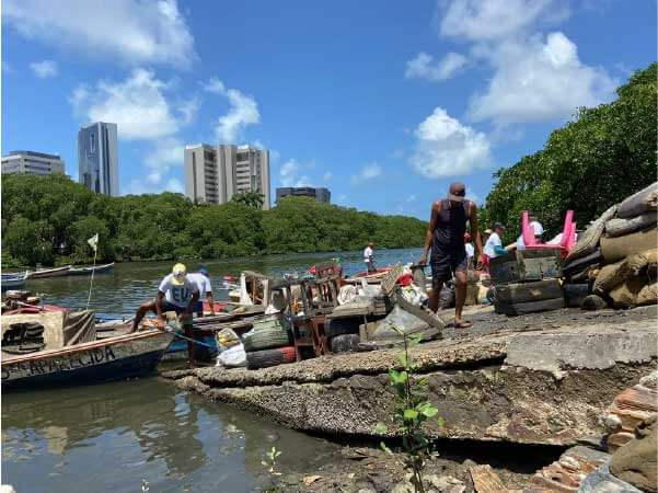 mutirão do bem retira lixo rio capibaribe