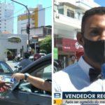 Vendedor de água que foi covardemente agredido em semáforo recebe doações de clientes na Paraíba
