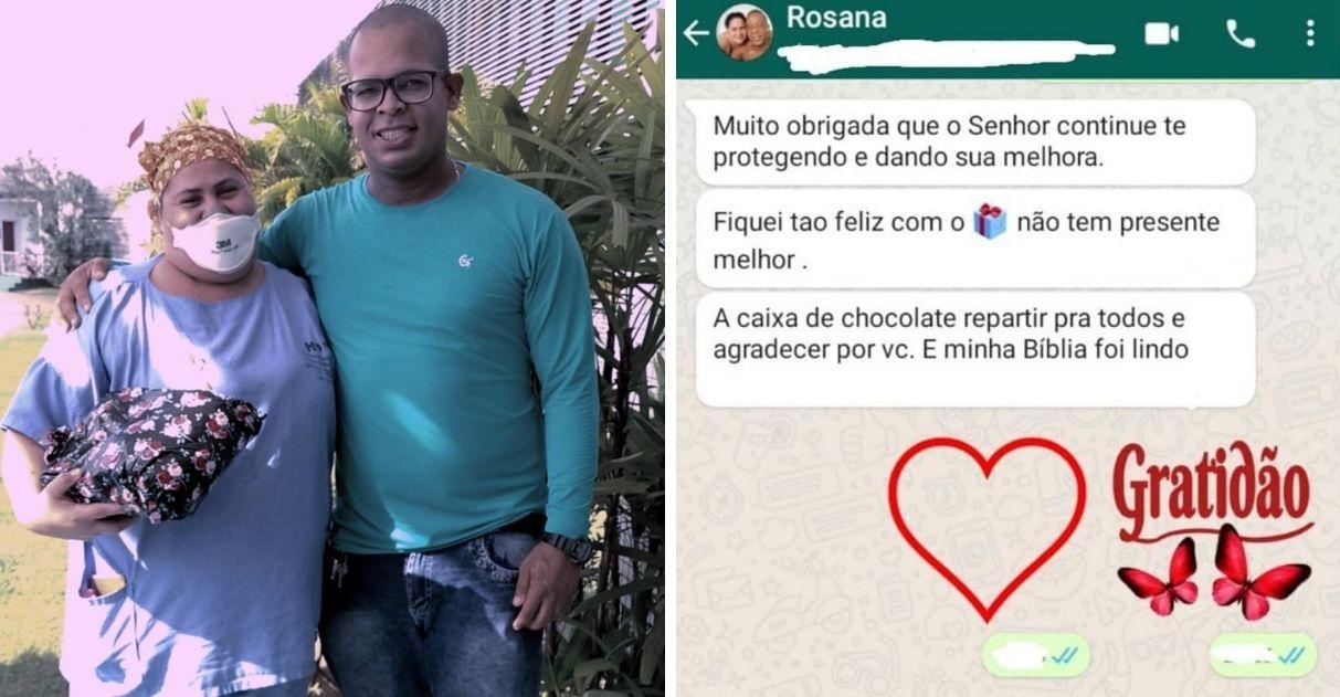radialista que levou tiro na boca presenteia enfermeira atendimento humanizado