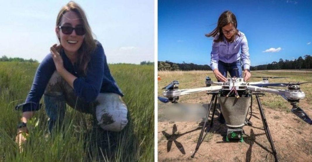 jovem constrói drones plantam árvores reflorestamento
