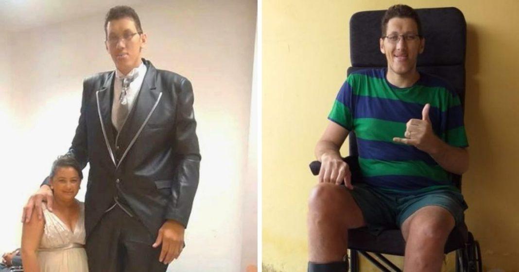 vaquinha voaa prótese para homem mais alto do brasil