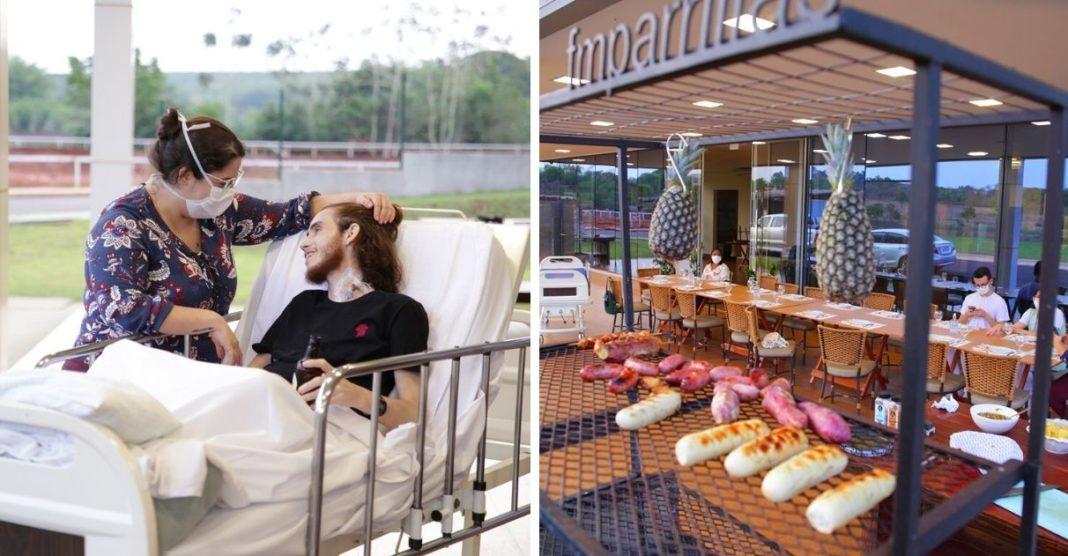 hospital realiza desejo paciente com câncer comer churrasco