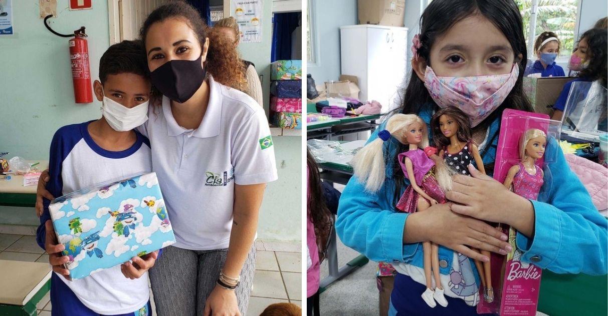 ação social doa centenas brinquedos crianças carentes paraná