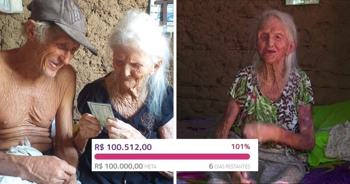 vaquinha voaa dona rita mulher mais velha do brasil meta batida