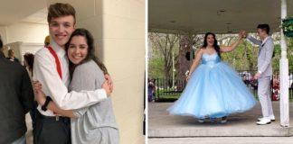 adolescente sem experiência costura cria vestido para amiga baile