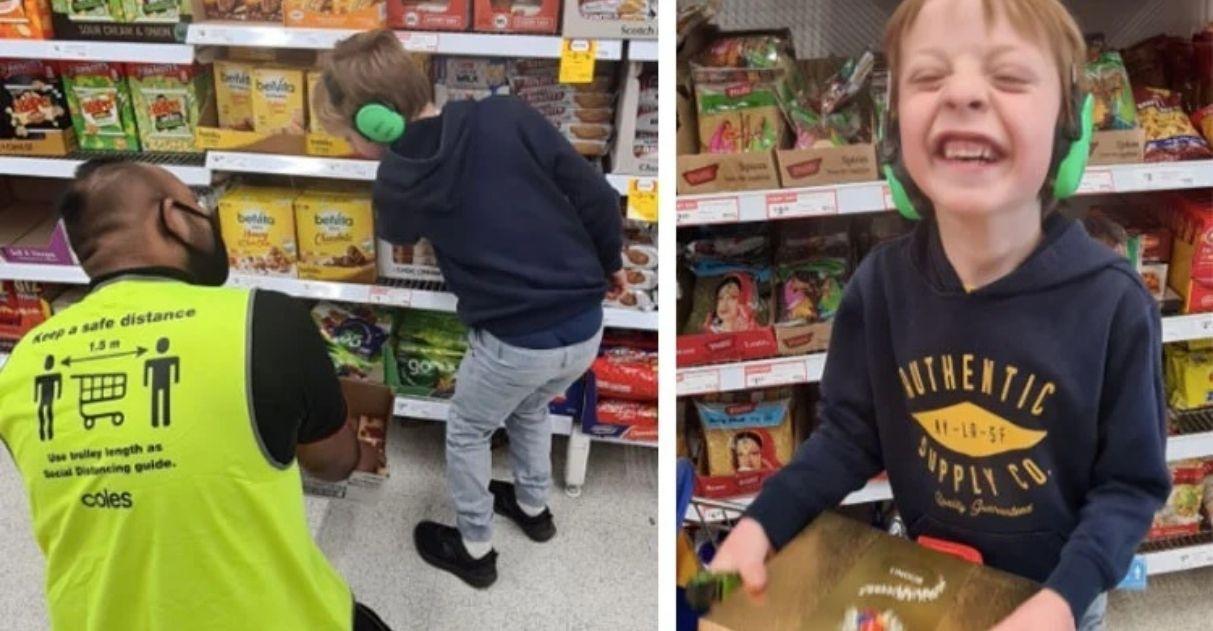 funcionário empatia menino autista não-verbal