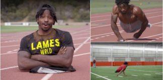 Atleta que nasceu sem pernas bate recorde de velocidade em 2 mãos e entra para o Livro dos Recordes