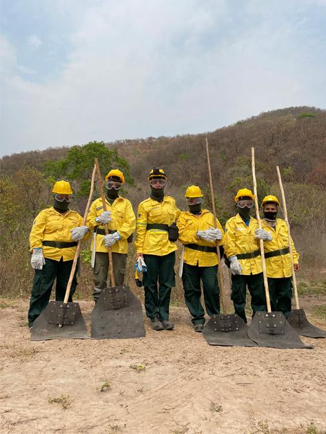 brigada feminina de incêndio no pantanal