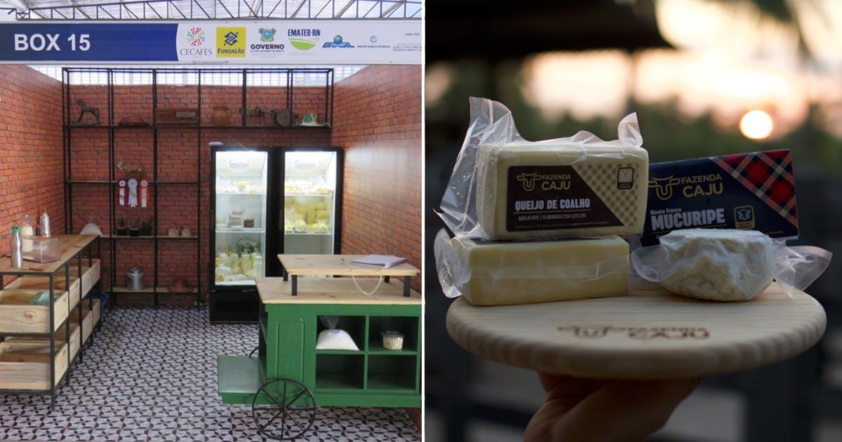 box de queijaria que vende produtos à base da confiança